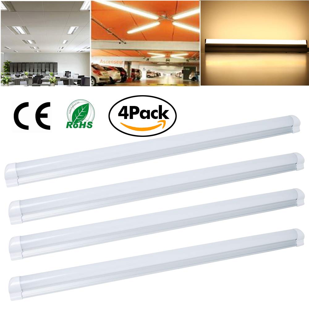 Excellent 2ft T8 Integrated LED Tube Light,Power 9W,Warm Soft Light,Voltage 85-260V,Fluorescent Lights Tubes Bulbs Replacement(4 Packs),US Local Shipping(3-5 Days)