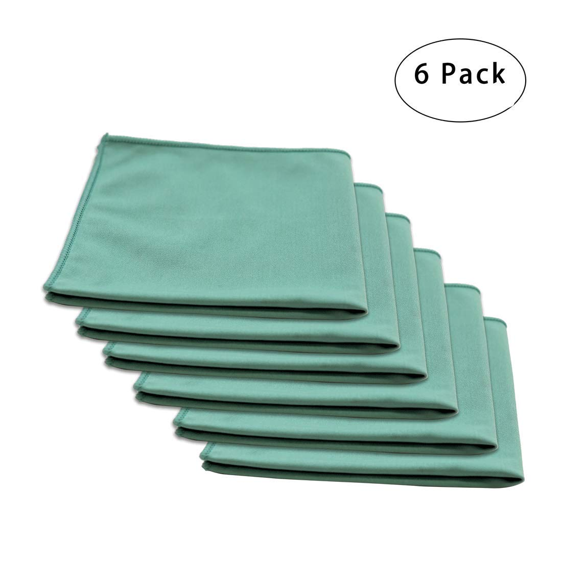 Carcarez 16 in. x 16 in. Premium Window, Glass, Mirror & Chrome Professional Microfiber LINT-FREE, STREAK-FREE Detailing Towels, Pack of 6 (green)