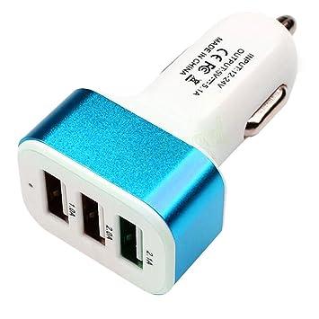Triple USB cargador de coche cargador de coche 3 puertos ...
