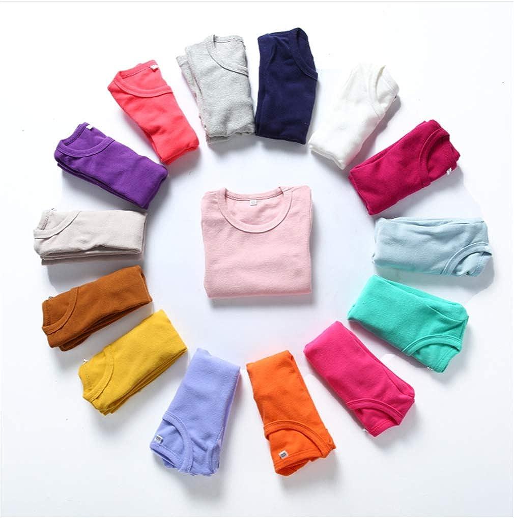Niyage Toddler Comfort Crew Neck Soft Tee Tops Girl Basic Long Sleeve T-Shirt: Clothing