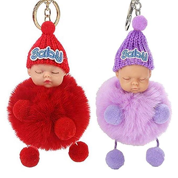 Amazon.com: Llavero con diseño de muñeca de bebé, 2 unidades ...