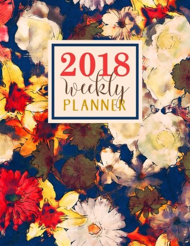 Weekly Planner: Large Format: Trendy Abstract Watercolor Florals Premium Cover with Modern Calligraphy & Lettering Art: Daily, Weekly & Monthly ... Antistress & Organization) (Volume 7) (Weekly Professional Academic Planner)