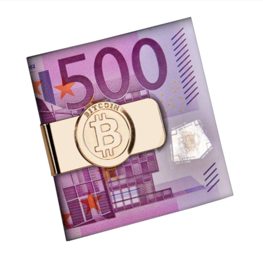 Bitcoin Geldklammer Money Clip Geldclip Geldscheinklammer Geldspange in Gold für alle Krypto Fans