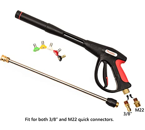 Pressure Washer Gun >> Amazon Com Tomic Thunder Hardware 4000psi Pressure Washer Spray Gun