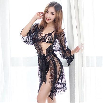 4f5394e91d932 LPYMX Sexy Angle Dress Funny Dress Extreme Temptation Passion Women s  Erotic Lingerie (Color   Black