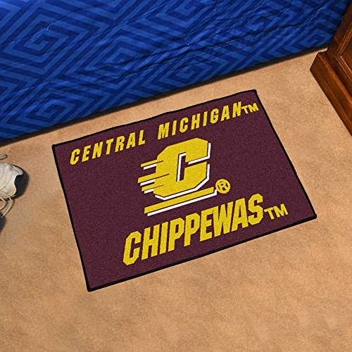 Central Michigan Starter Rug (Central Michigan Chippewas Floor Mat w Maroon and Gold)