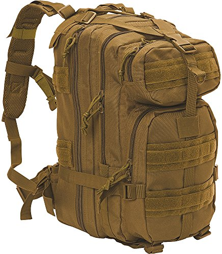 Coyote Brown MOLLE Military Medium Transport Backpack with Army Universe Patch