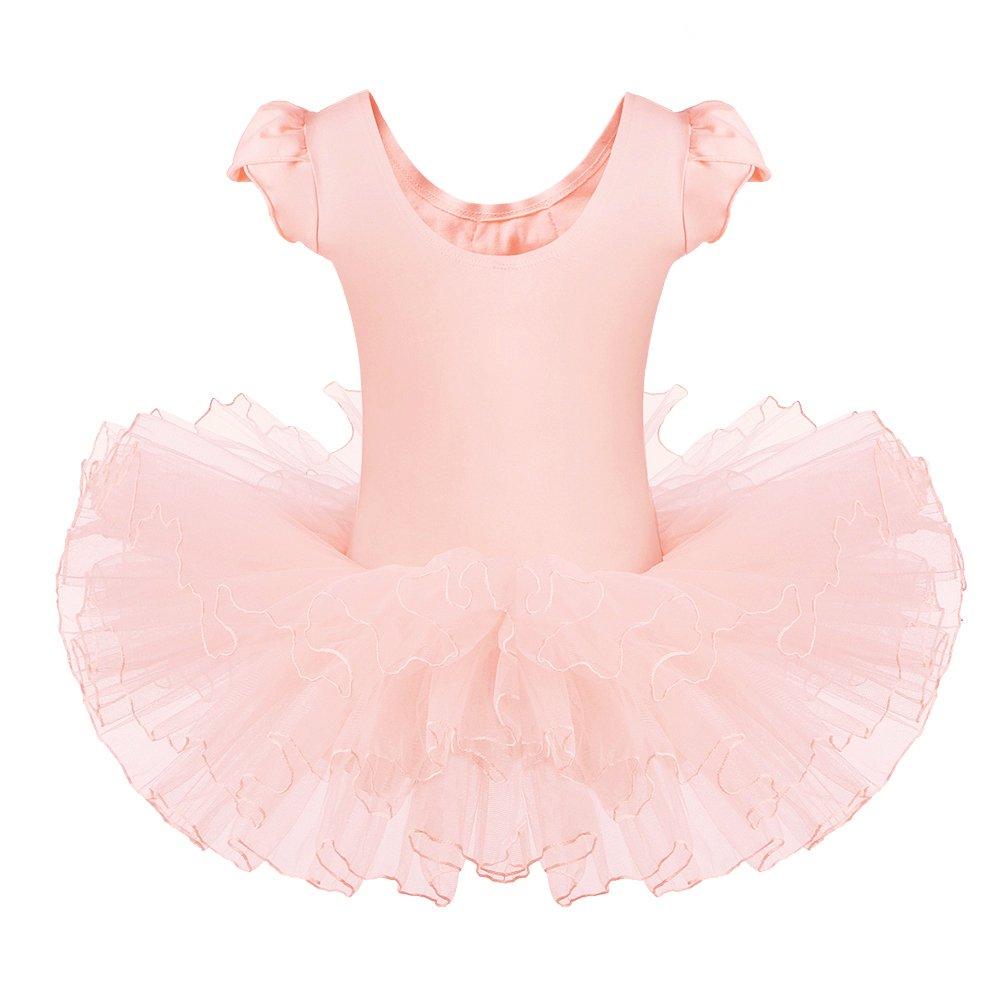 9198faed2 Amazon.com  BAOHULU Leotards for Girls Ballet Dance Tutu Skirted ...