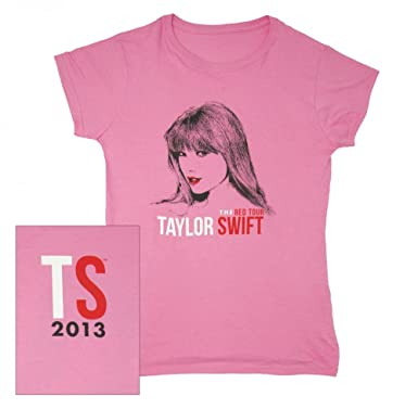 53c857a4b Amazon.com: Taylor Swift Pink Sketch The 2013 Red Tour Tee Shirt ...