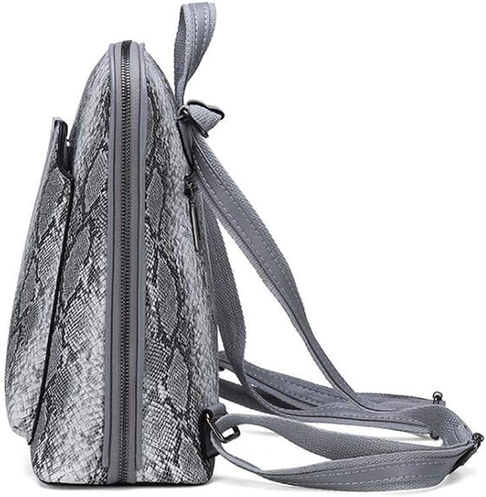 Yan Show Womens PU Elegant Handbag Fashion Shoulder Bag Snake Skin Texture Totes Travel Bag