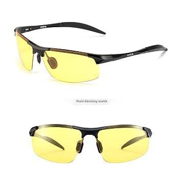 dd7ab1d5c7 SOXICK HD Polarized Night Driving Glasses Anti Glare Safety Glasses (Black1)