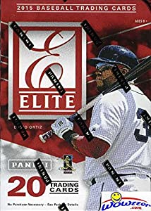 2015 Panini Elite Baseball Factory Sealed HOBBY Blaster Box with 20 Cards and AUTOGRAPH or MEMORABILIA Card! Look for Autographs of Kris Bryant, Bo Jackson, Mike Trout, Frank Thomas and Many More