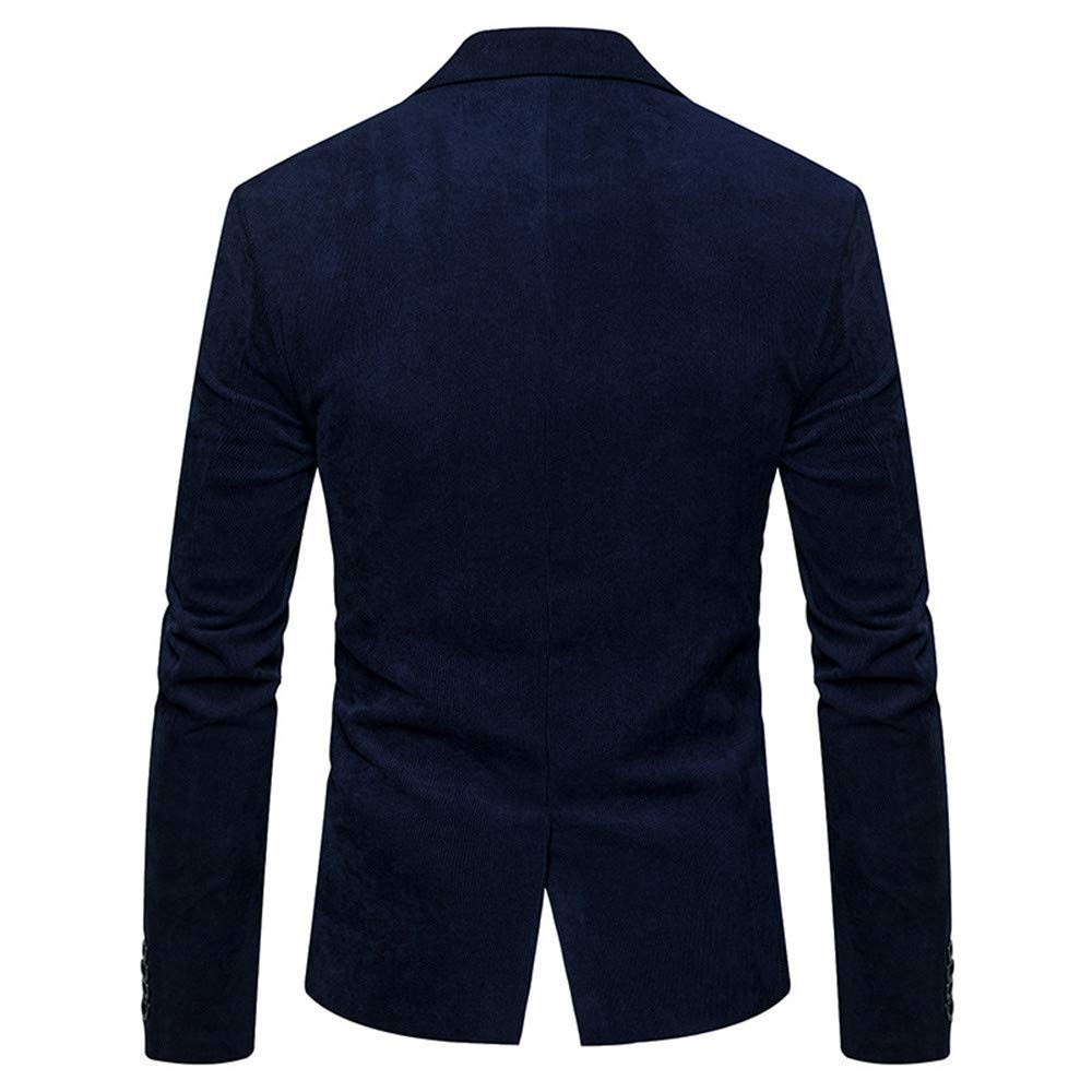 2019 Fashion Autumn Winter Casual Slim Fit Long Sleeve Coat Casual Dress Jacket Jvfgbsdgfs Corduroy Blazer for Men