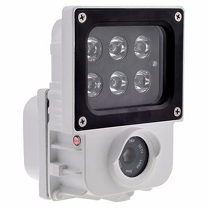 Videocámara de seguridad SunWebcam con wifi, foco de luz y alarma - 1080P HD -