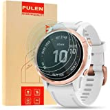 "[4-Pack] PULEN for Garmin Fenix 6S and Fenix 6S Pro 1.2"" Screen Protector,HD Clear No Bubble Anti-Scratch Anti…"