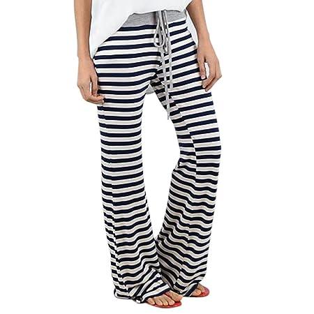 Mounter Las Mujeres niñas Casual Rayas Pantalones de Yoga ...