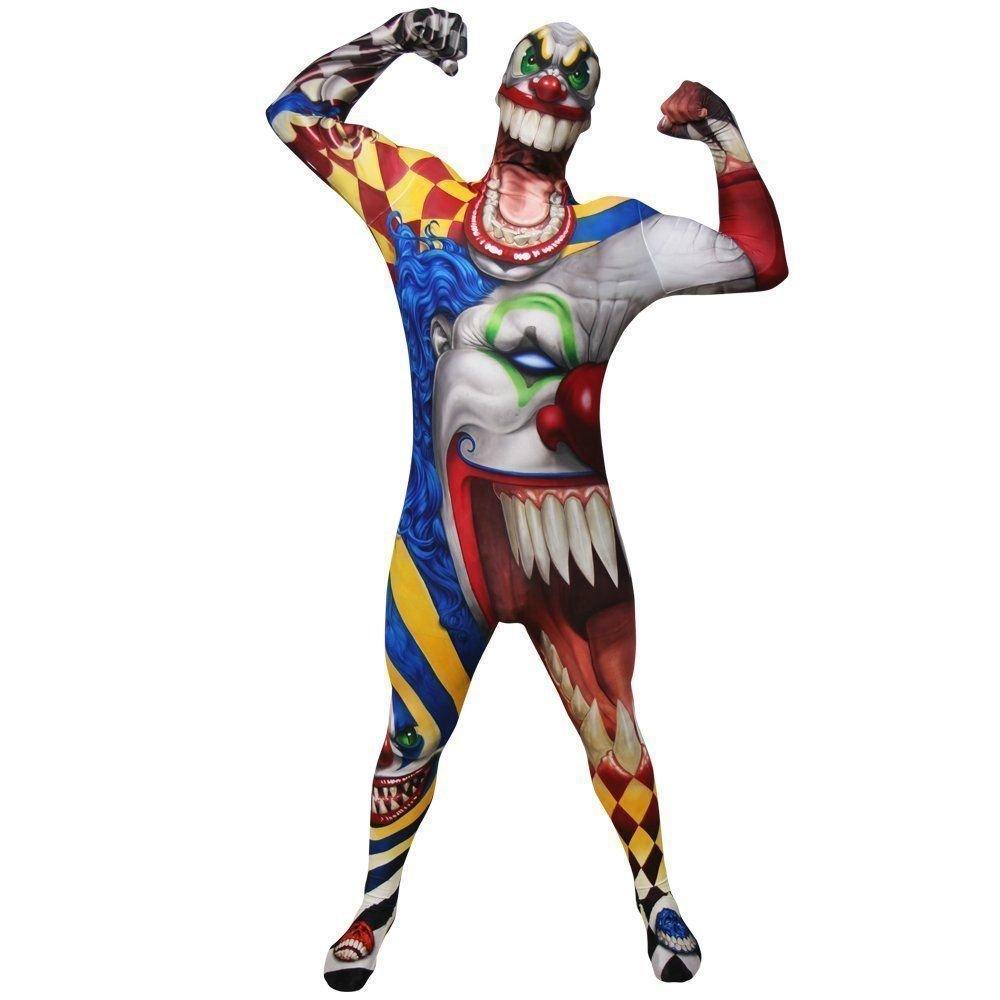 Generique - Horror Clown Morphsuits für Erwachsene M (bis zu 1,60 m)