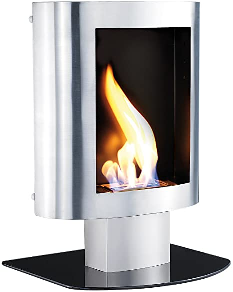 Carlo Milano Decorative Stove Bio Ethanol Stainless Steel For Wall And Floor