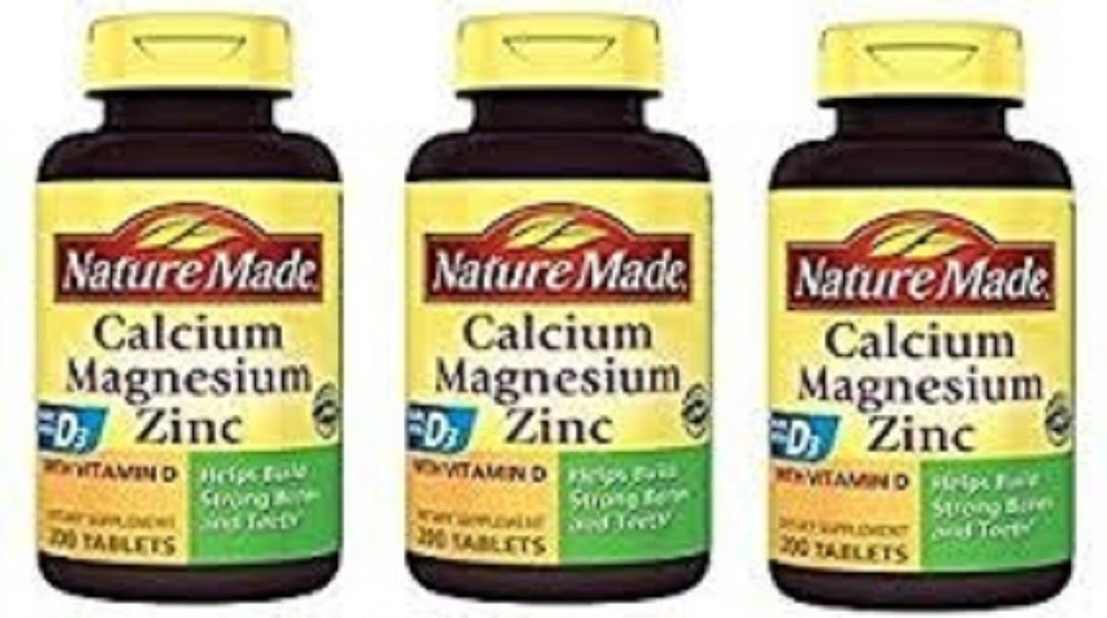 Nature Made Calcium Magnesium Zinc Tablets With Vitamin D 200 Count 3 Pack