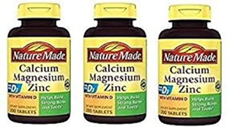 Buy Nature Made Calcium Magnesium Zinc Tablets With Vitamin D 200