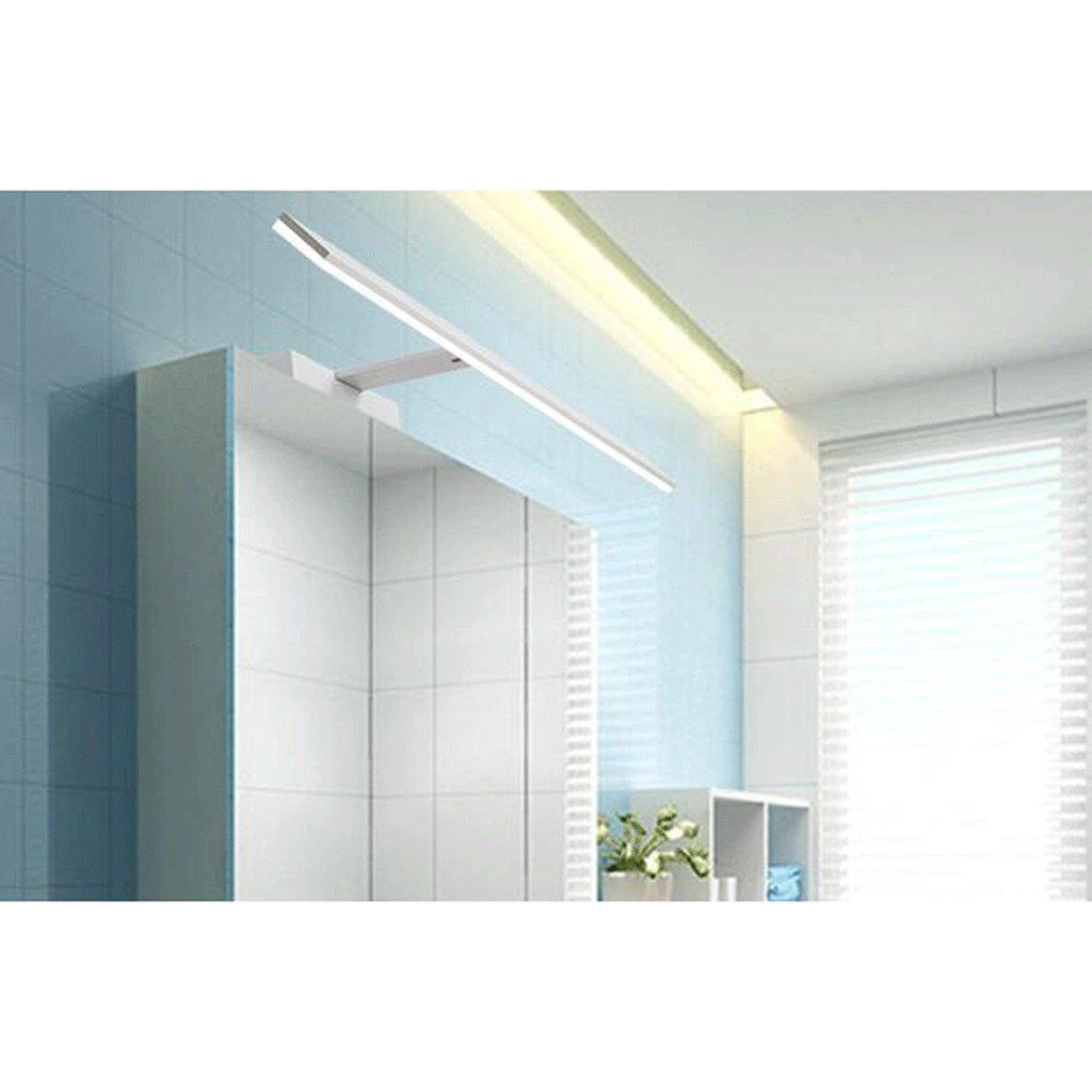 JJJJD Einfache Badezimmerspiegelscheinwerfer, geführte Schminktischscheinwerfermake-upspiegellichter, wasserdichter Anti-Nebel (Farbe   Weiß-B (11.5cm)-15w82cm)