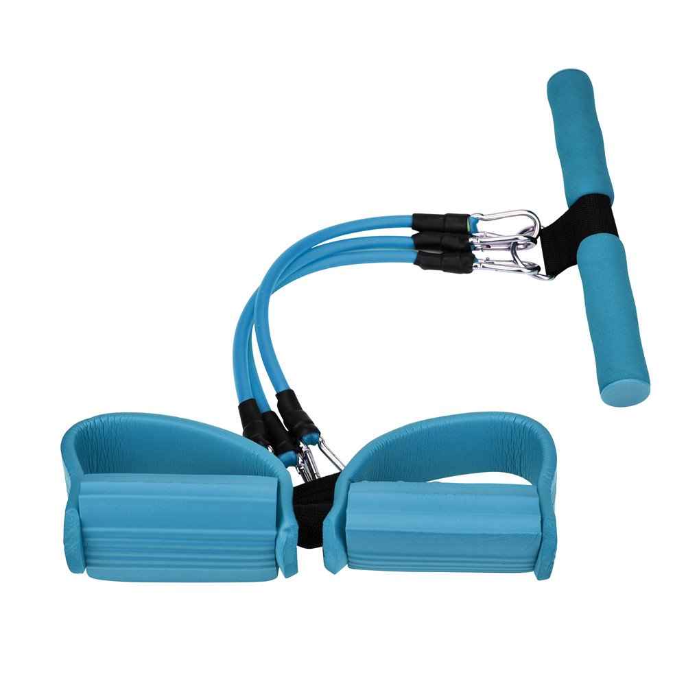 Blue Creazydog Creazy Resistance Exercise Latex Tension Bands Fitness Equipment Fit for Situps Stretching and Chest Expander Set of 3