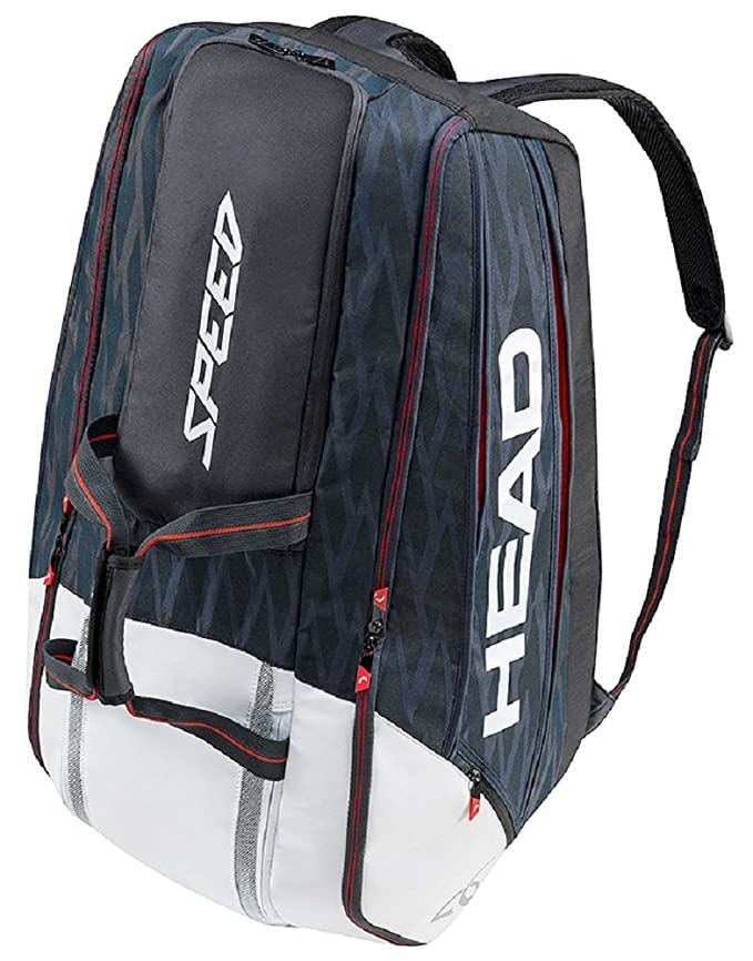7701d4d418 Amazon.com : HEAD Djokovic 12R Monstercombi Tennis Bag, Navy/Black/White :  Sports & Outdoors