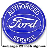 """Authorized Ford Service Large 23"""" Aluminum Garage Sign from Redeye Laserworks"""