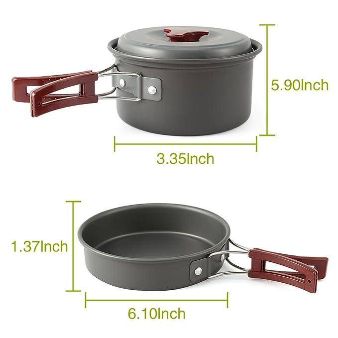 EZOWare Batería de Cocina para Camping, Vajilla para Cocina ...