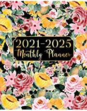 2021-2025 Monthly Planner: Yellow Flowers 5 Year Monthly Planner Calendar Schedule Organizer January 2021 to December 2025 (60 Months) With Federal Holidays and inspirational Quotes