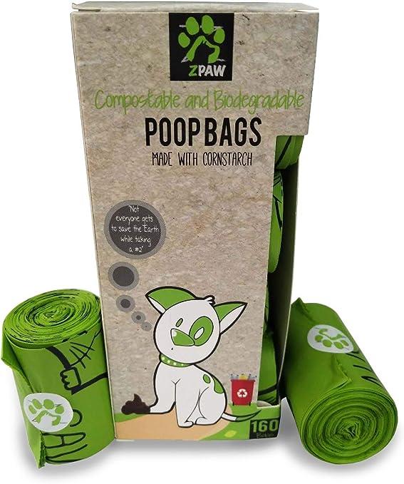 ZPAW Compostable y biodegradable bolsas para caca de perro ...