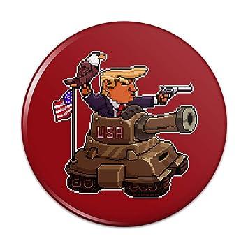 Amazoncom Patriotic Pixel Trump In Tank With American
