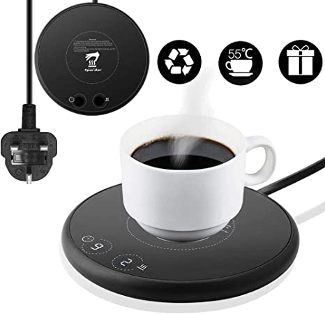 Smart Coffee Mug Warmer Electric Beverage Warmer,With Two Temperature control for Office or Home Use with Electric Cup Beverage Plate