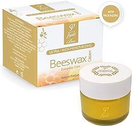 Feuchtigkeitscreme für Trocken Haut - 50ml -  Reine und Natürliche Bienenwachscreme mit Olivenöl und Essentiellen Ölen - Sehr Geeignet für Rosacea, Dermatitis, Ekzeme, Psoriasis