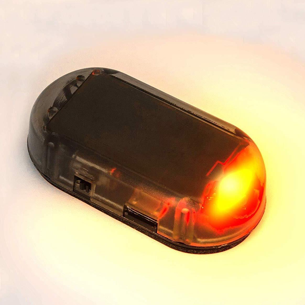 Cikuso Auto Solar Power Simulato Allarme Fittizio Allarme Antifurto LED Lampeggiante Luce di Sicurezza Lampada Falsa Blu