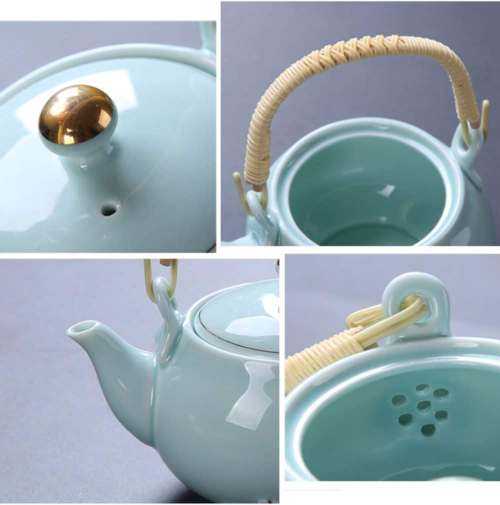 """6.1/"""" Collect China White Jade Carved Plum Blossom Flower Kettle Teapot Teakettle"""