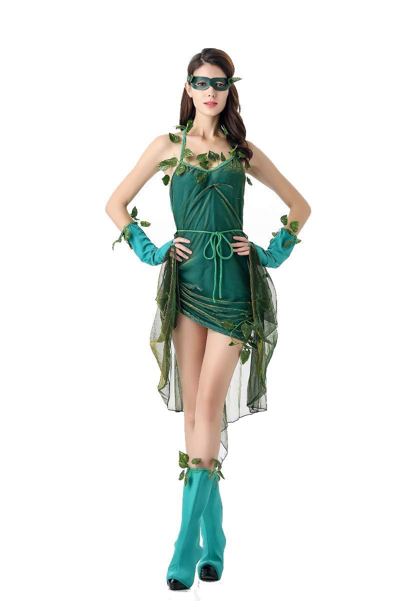 Costume da Dea Demone Albero Foresta di Costume da Elfo verde Costume di Halloween,verde,OneDimensione