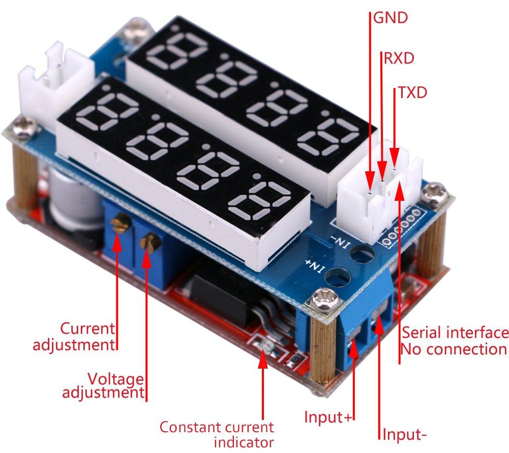 Dc Buck Converter Yeeco Step Down 5 30v To 5v 12v 24v 08 29v 10v 5a Voltage Regulator Adjustable Volt Transformer Board Power