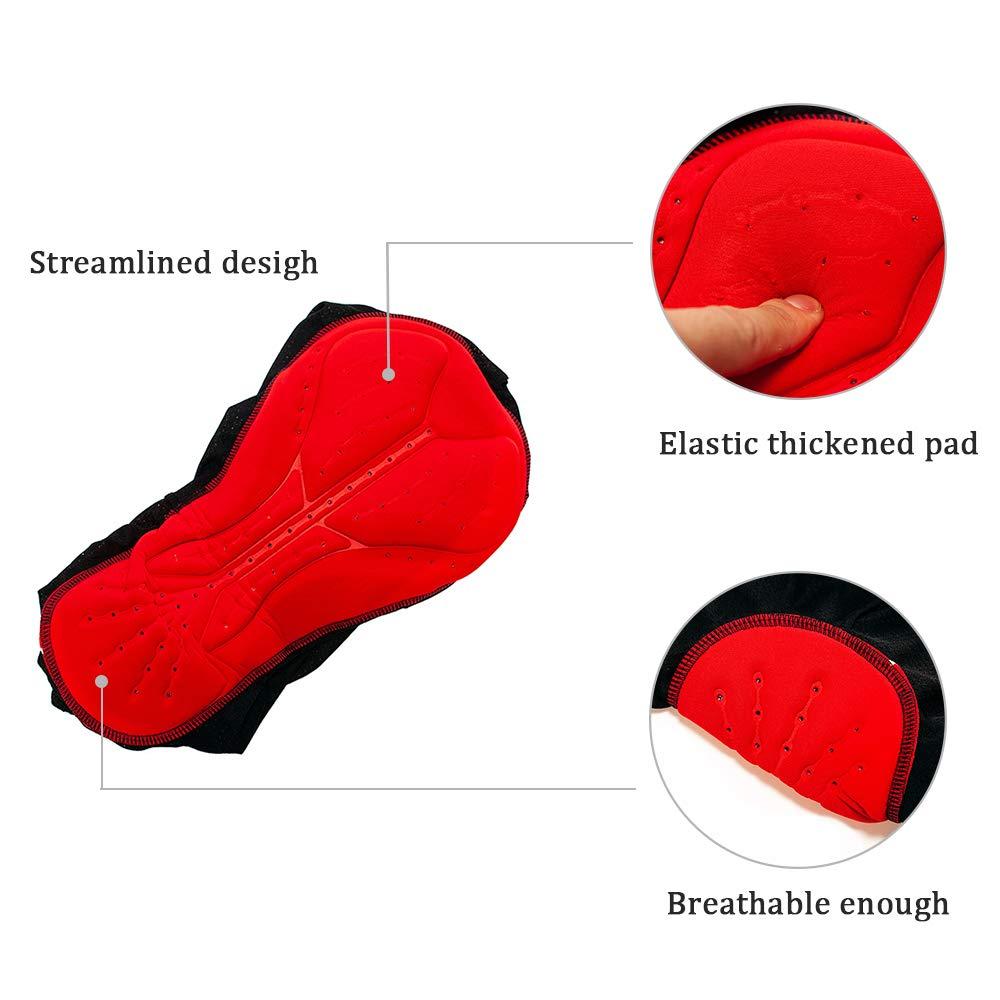 IKuaFly Cycling Underwear for Men 3D GEL Padded Brethable Elastic Anti-shock XXL