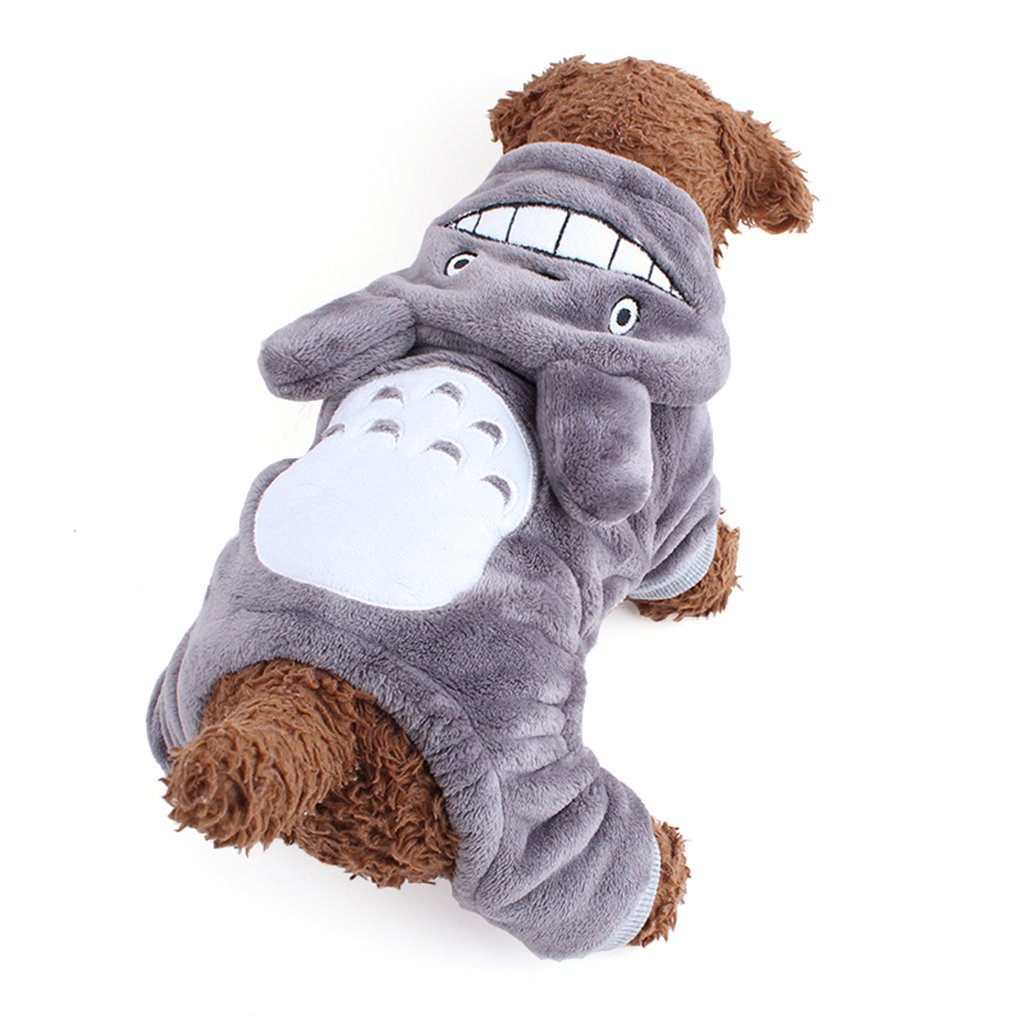 Gimilife Christmas Halloween Totoro Pet Change Appare Pet Autumn Winter Cartoon My Neighbor Totoro Coat Clothes Jumpsuit Funny Party Cosplay for Small Medium Large Dogs (Grey, XS)