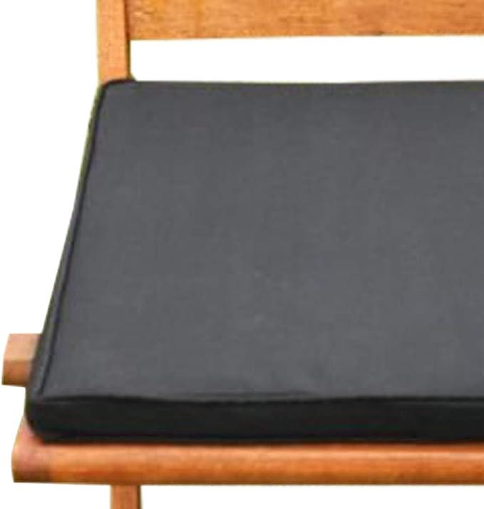 UK-Gardens Coussin de Chaise de Meubles de Jardin Noir Galette de Chaise pour chaises de Jardin Pliante: Amazon.es: Jardín