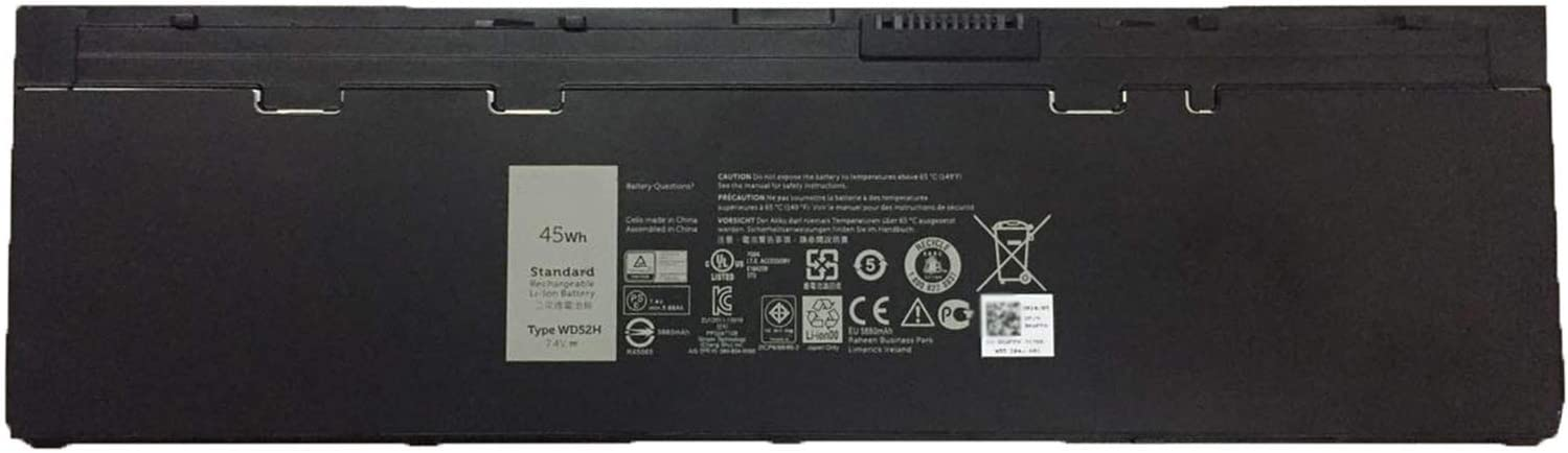 SUNNEAR WD52H 7.4V 45Wh 5880mAh Laptop Battery for DELL Latitude E7240 E7250 Series Notebook NCVF0 GVD76 HJ8KP