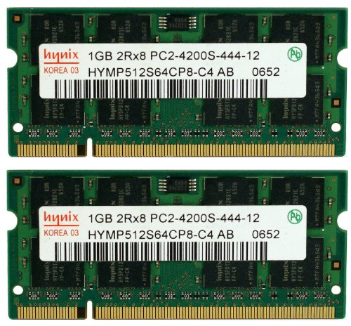 (Hynix 2GB (2x 1GB) DDR2 PC2-4200 PC2-4300 533MHZ SODIMM (200 Pin) laptop memory)