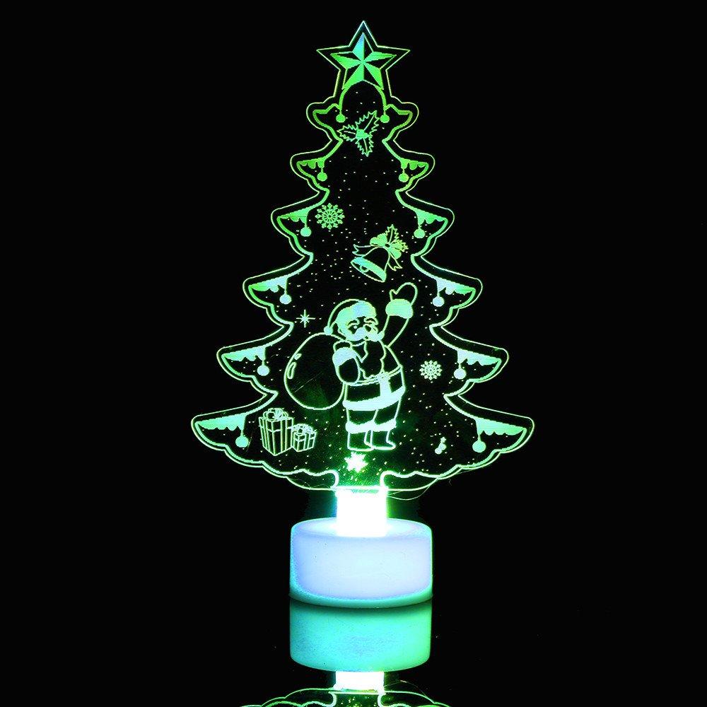 CLOOM 6PC Weihnachts deko Nachtlicht Kleiner Weihnachtsbaum der Steckdose Buntes Blitz LED Nachtlicht kind Steckdose für Kinderzimmer, Schlafzimmer, Nachtlampe Schlummerlicht Schlummerleuchten (2 PC) ⚓CLOOM