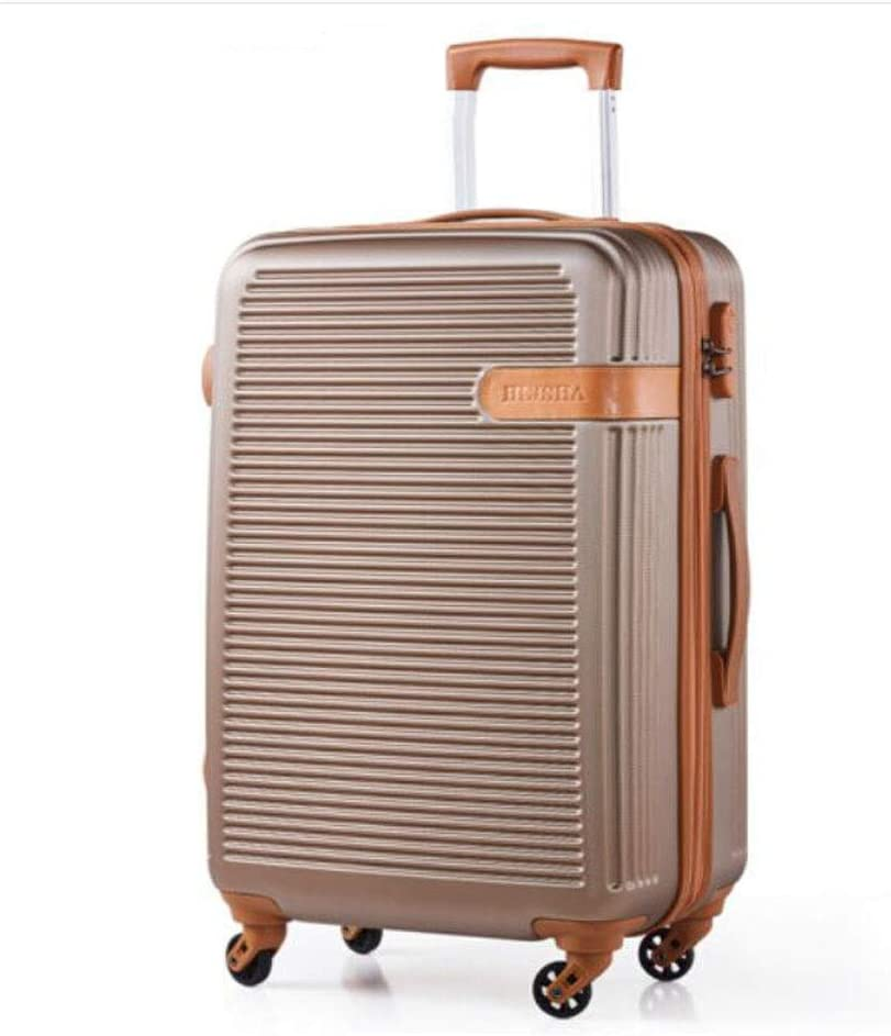 Champagne Suitcase for Durable Lightweight Hard Shell Casual Fashion Suitcase 13 9 22 Size Color : Champagne, Size : 13922 inch Color inches