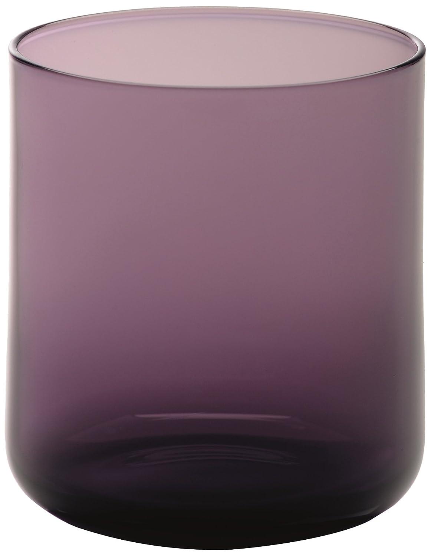 Bitossi Home BEI21 Set de 6 vasos de agua de cristal, Linea Bloom, Color morado BEI-21 BEI21_VIOLET