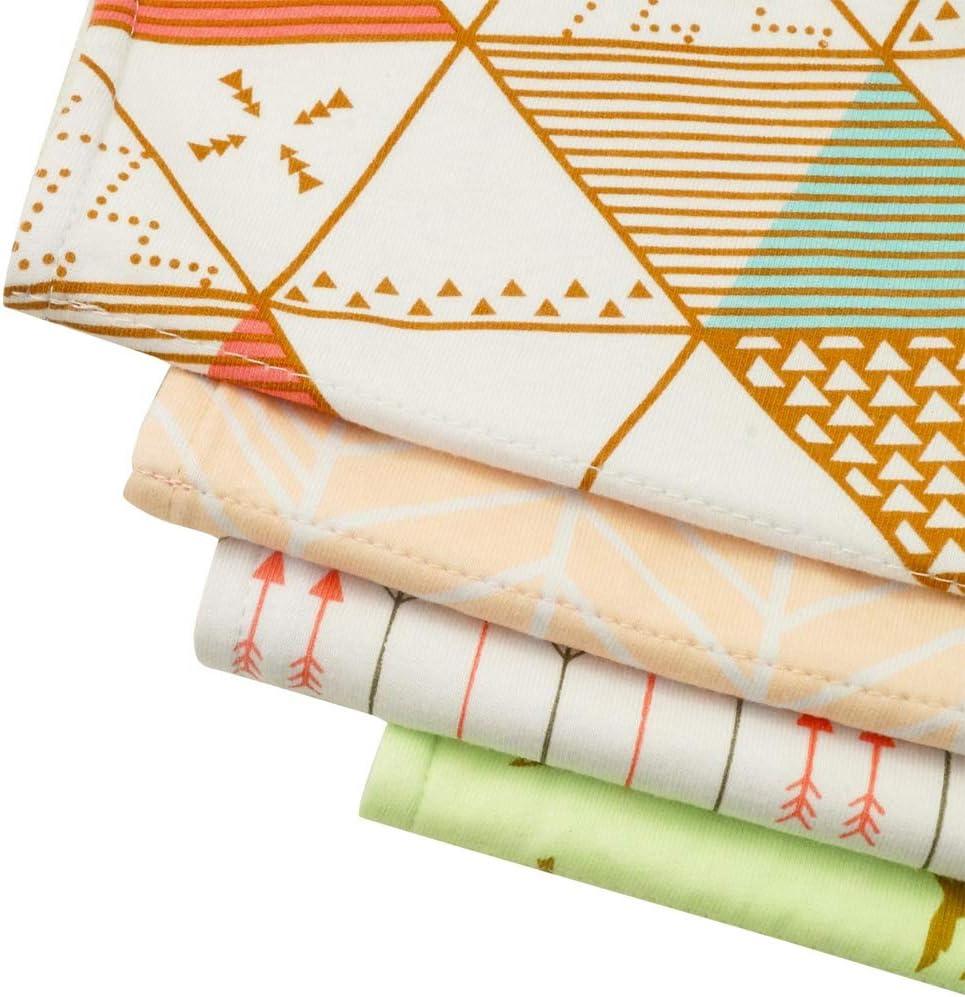 K013 Baby Burp Cloths Set Waterproof Baby Burp Bibs Organic Cotton 4-Pack Feeding Nursing Towel Accessory,Burping Rags for Newborns,Baby Shower Gift for Boys and Girls