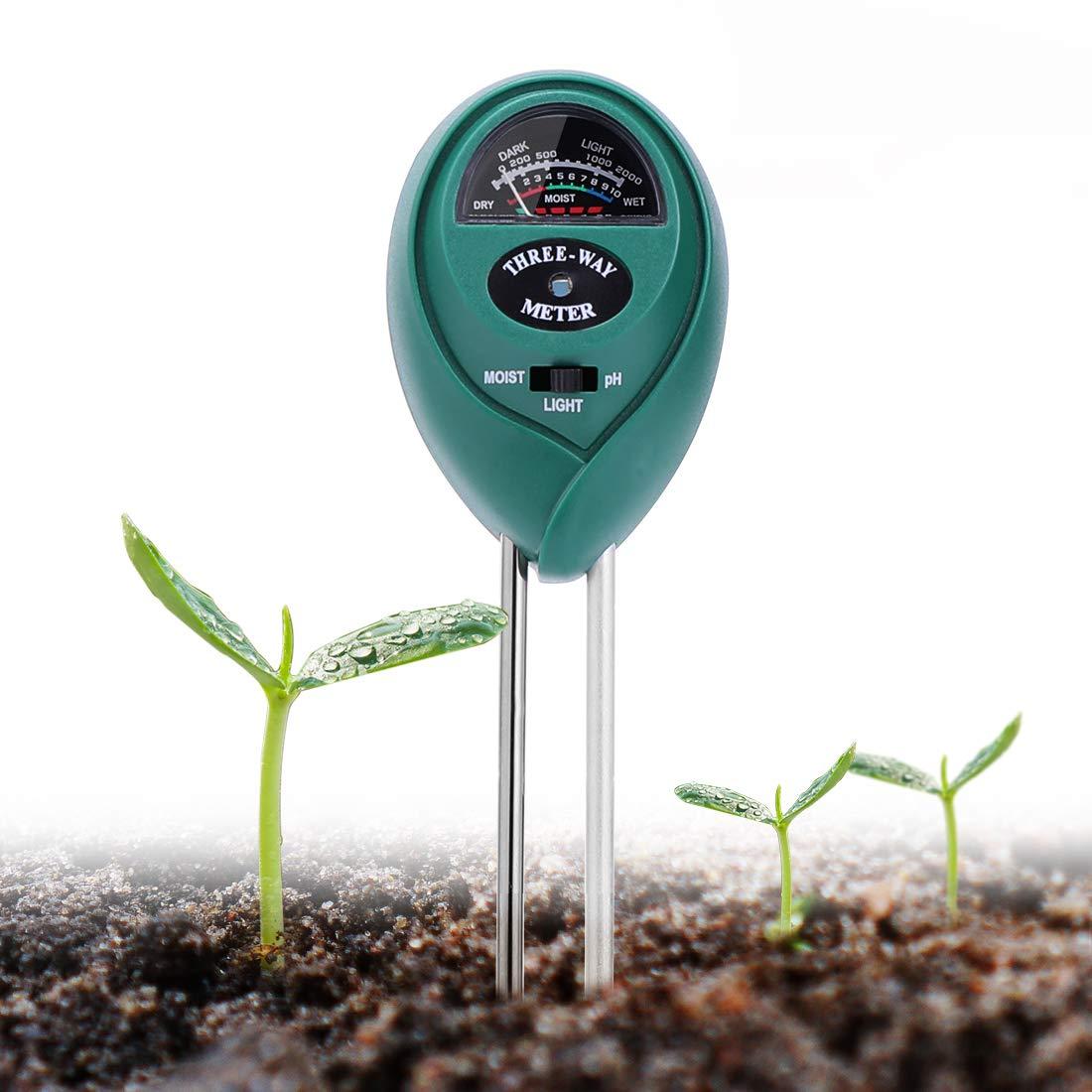 VIVOHOME 3 in 1 Moisture Meter PH Light Soil Tester Kit for Lawn and Garden