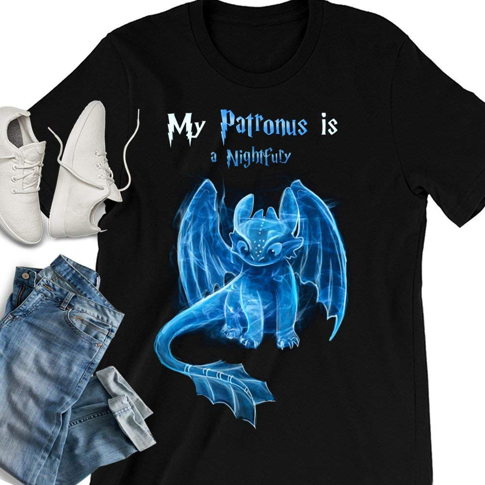 My Patronus Is A Night Fury Dragon Toothless Customized Handmade T-shirt/Hoodie/Sweater/Long Sleeve/Tank Top