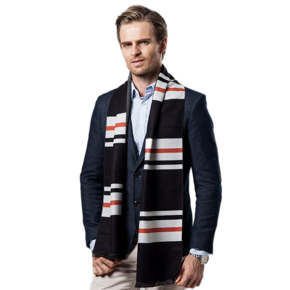GITVIENAR Men's Scarf Classic Leisure Business Neck Scarf Cashmere Feel Winter WarmScarves